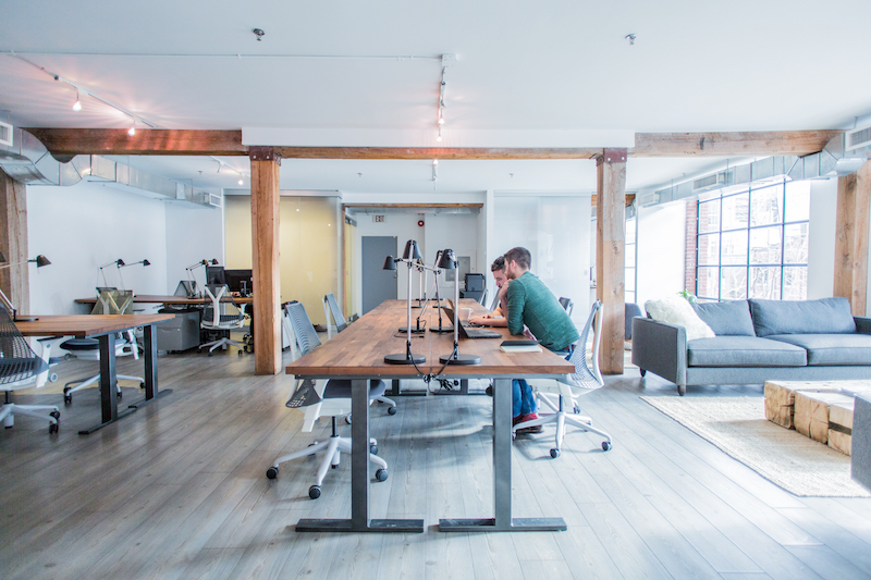 Interior photography of verkspace shared office spaces in for Shared office space montreal
