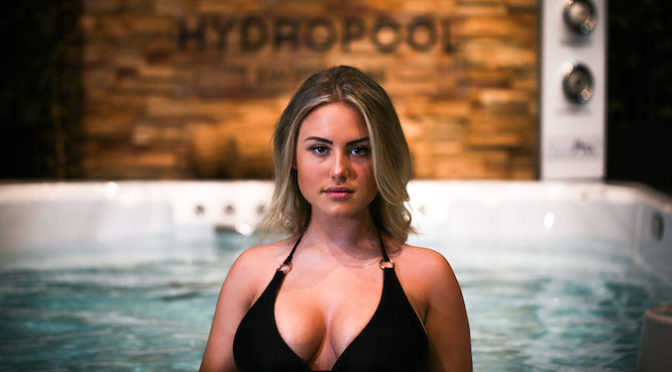 Shooting Hydropool Hot Tubs with Maria Flo