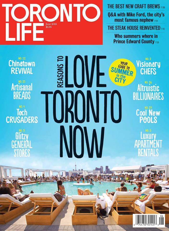 toronto life magazine - front cover