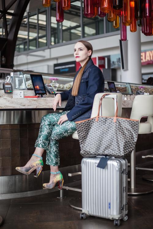 Hawley Dunbar of Sidewalk Hustle at Pearson Airport