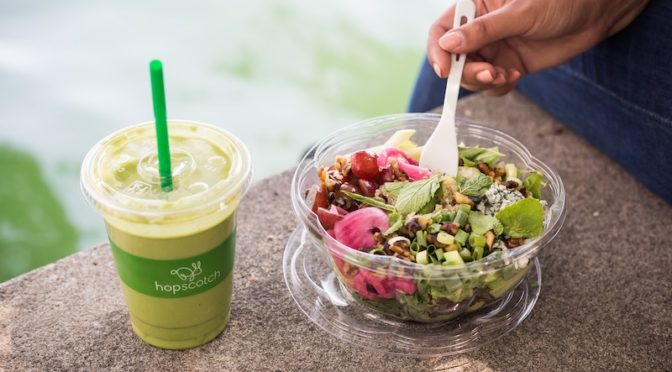 Outdoor food photography for fast casual eatery Hopscotch in Toronto